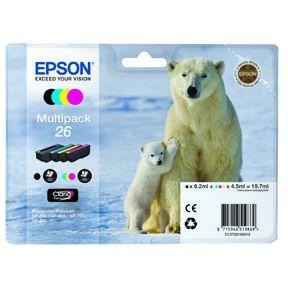 Image of   Epson 26 CMKY Sampak 4 stk Original