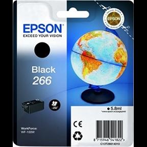 Epson 266 BK (C13T26614010) Sort Blækpatron, Original 5,95ml