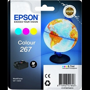Epson 267 C (C13T26704010) Farve Blækpatron, Original 5,95ml