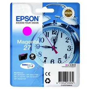 Image of   Epson 27 T2703 M (C13T27034012) Magenta Blækpatron, Original