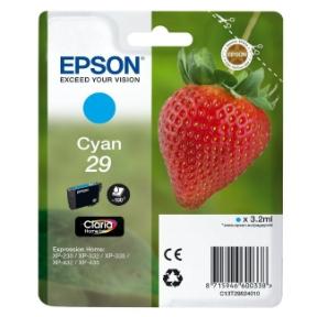 Image of   Epson 29 T2982 C (C13T29824012) Cyan Blækpatron, Original3,95ml