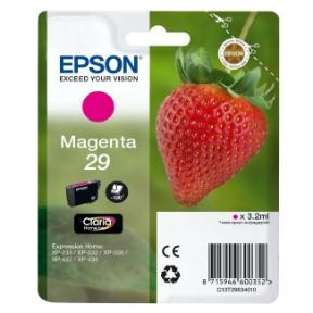 Epson 29 T2983 M (C13T29834012) Magenta Blækpatron, Original 3,95ml