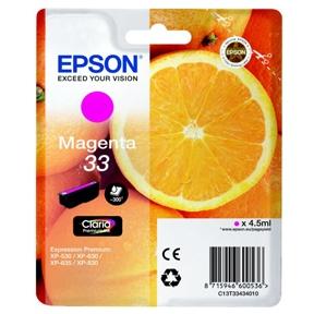 Image of   Epson 33 T3343 M (C13T33434012) Magenta Blækpatron, Original 4,95ml