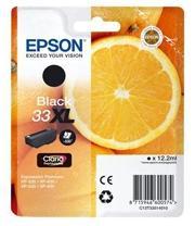 Epson 33XL T3351 BK (C13T33514022) Sort Blækpatron, Original 8,95ml