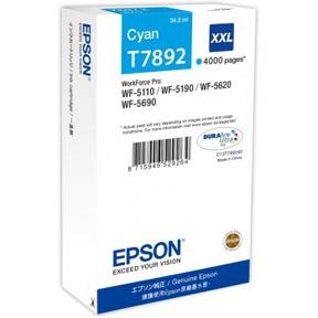 Epson T7892 XXL C, Cyan blækpatron, Original