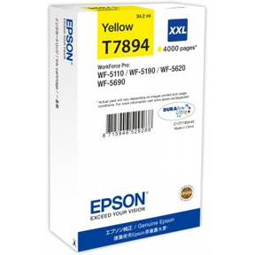 Epson T7894 XXL Y, Gul blækpatron, Original