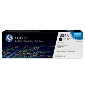 Image of   HP CC530A BK Sort Lasertoner, Sampak 2 stk, Original