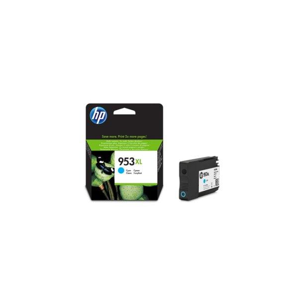HP 953 XL C (F6U16AE) cyan blækpatron, 1600 sider