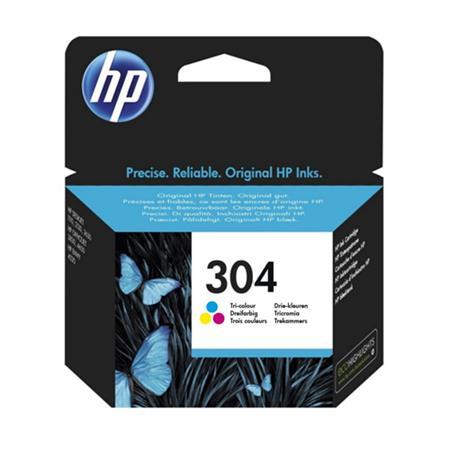 Image of   HP 304 C (FN9K05AE) med chip, farve blækpatron, Original 100 sider (4 ml)