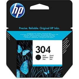 Image of   HP 304 BK (FN9K06AE) sort blækpatron, Original 120 sider (3,95 ml)