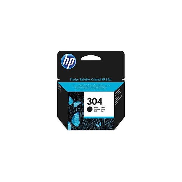 HP 304 BK (FN9K06AE) sort blækpatron, 120 sider (3,95 ml)