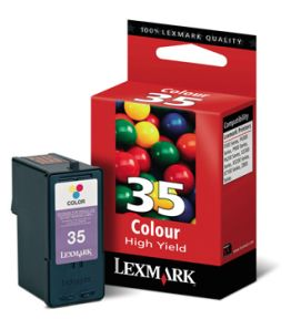 Image of   Lexmark 35 XL C (18C0035E), farve Blækpatron, Original