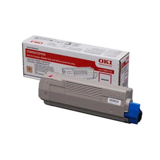 Image of   OKI C5850/5950/MC560 M (43865722) Lasertoner, magenta, Original 6000 print