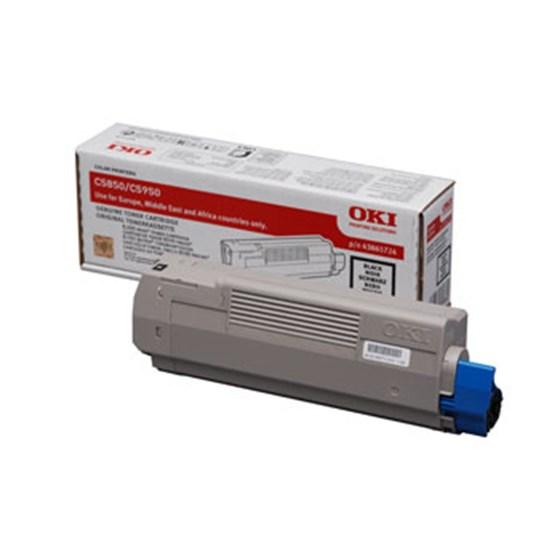 Image of   OKI C5850/5950/MC560 BK (43865724) Lasertoner, sort, Original 8000 print