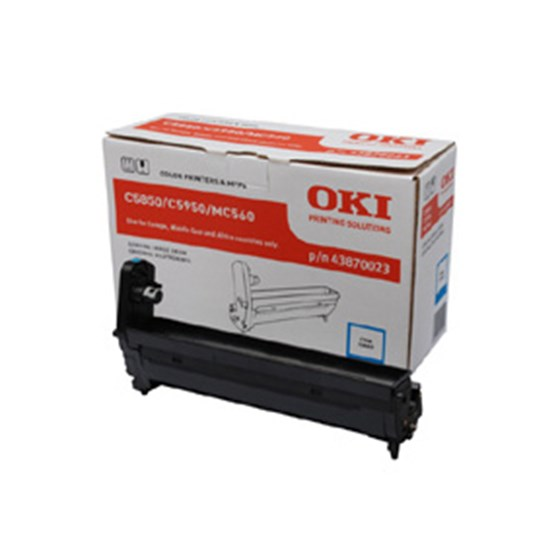 Image of   OKI C5850/5950/MC560 C (43870023) tromle, cyan, Original 20000 print
