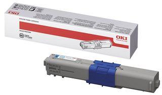 Image of   OKI C310 C (44469706) Lasertoner, Cyan, Original (2000 print)