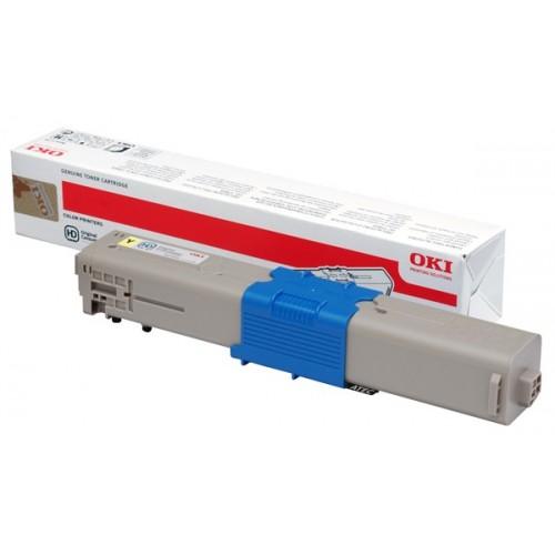 Image of   OKI C310 Y (44469704) Lasertoner, Gul, Original (3000 print)