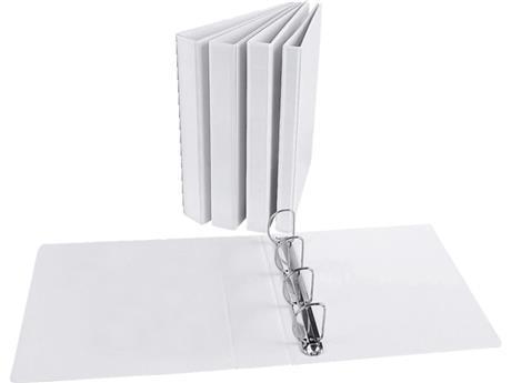 Indstiksmappe A4, hvid. 4DR m/lomme. Fås i flere tykkelser 30/16 mm