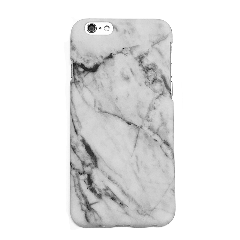 Marble cover, iPhone 6 Plus sort, hvid el. rød Rød
