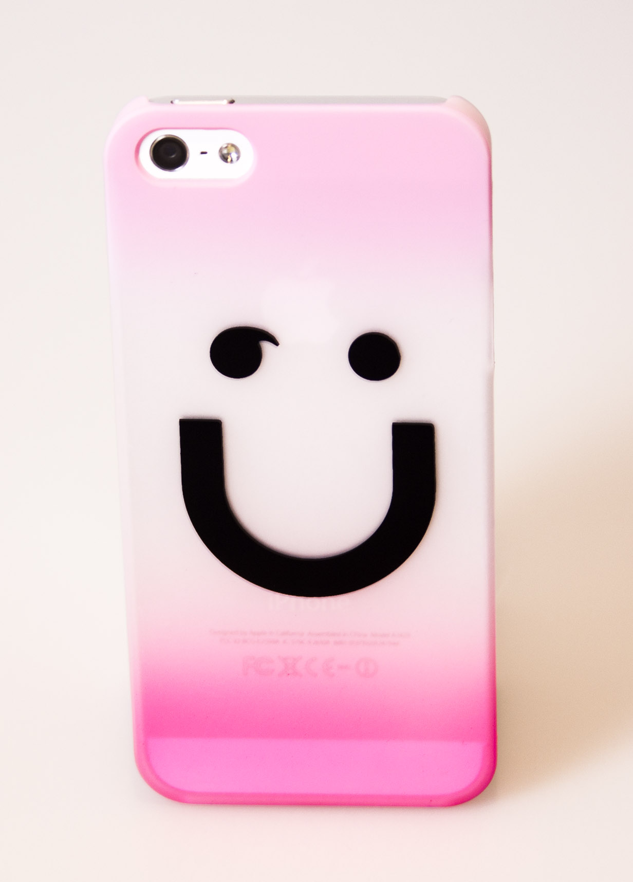 Image of   iPhone Cover Smiley, pink iPhone 4/4s