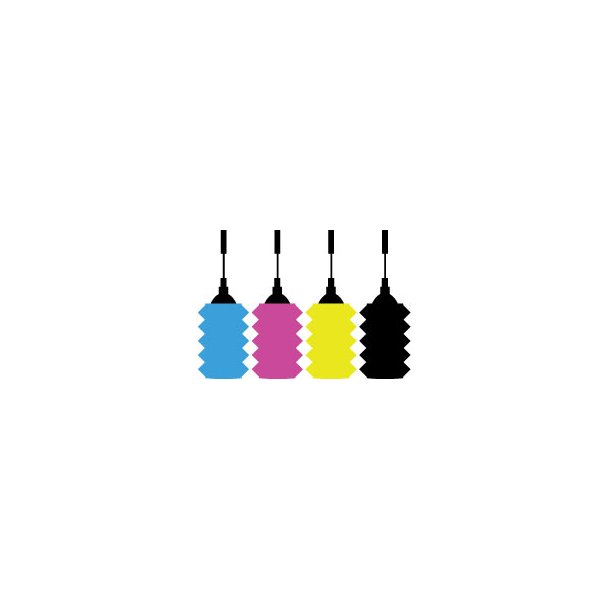 Epson Refill Enkeltfarve sæt 2 x 4 flasker á 30 ml.