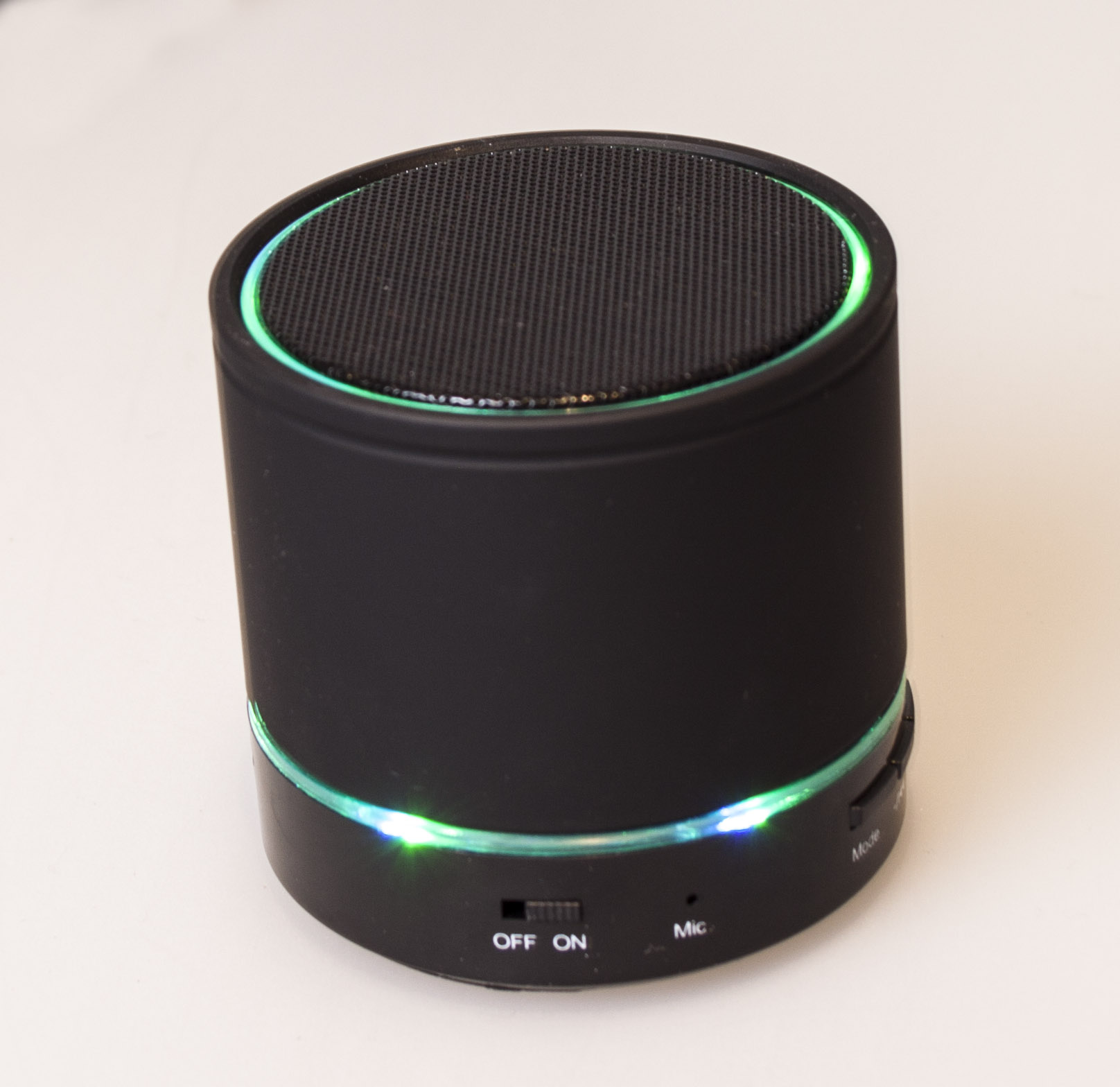 SERO Bluetooth Højtaler med LED Lys Sort