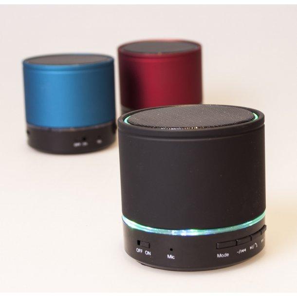 Bluetooth Højtaler med LED Lys