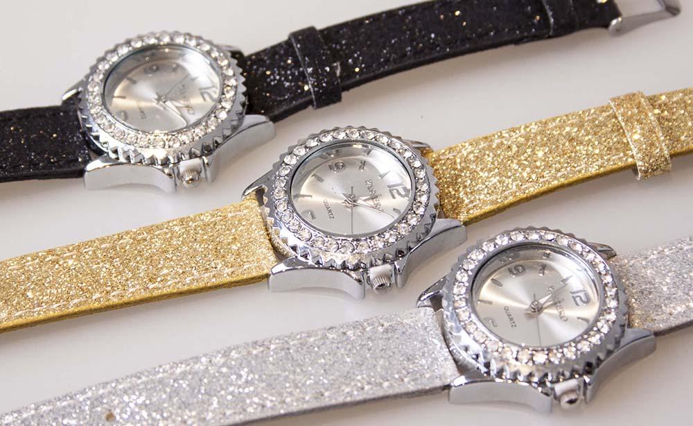 Passero ur med diamantkant Gylden