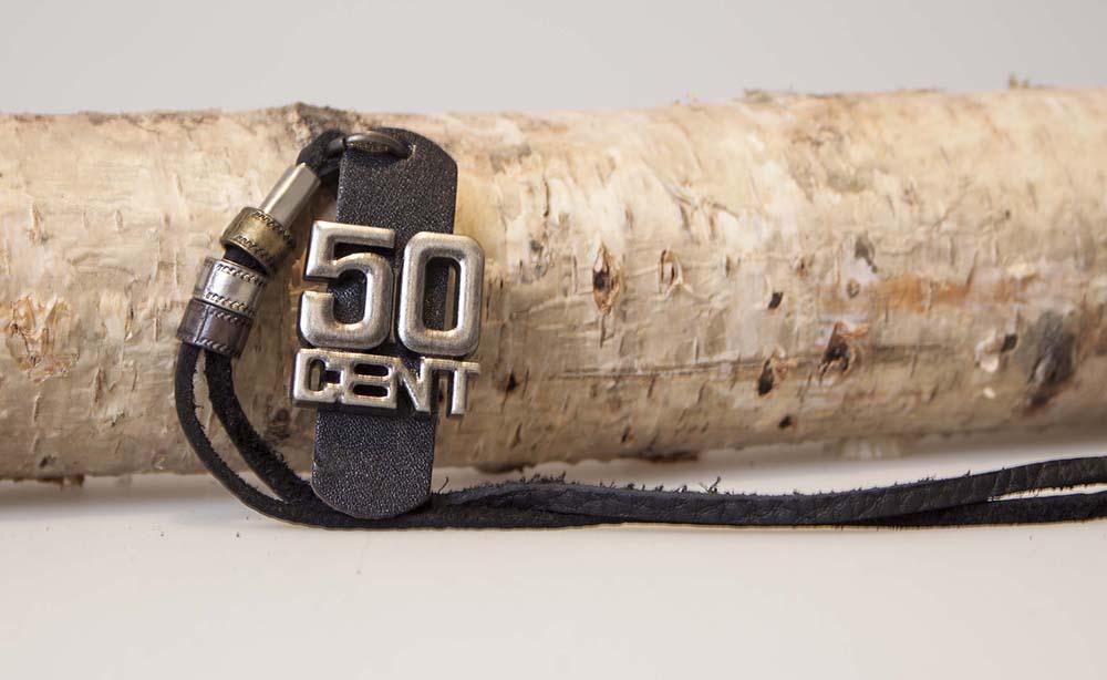 Image of   50 Cent halskæde