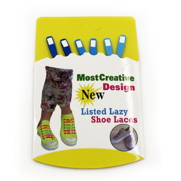 Image of   Lazy Shoe Laces Nuanced 12 pcs Blå