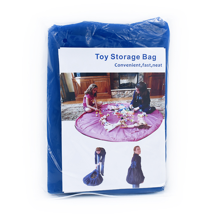 Image of   2 i 1 legetøjstæppe og opbevaringspose. 2 str. Dia: 100cm