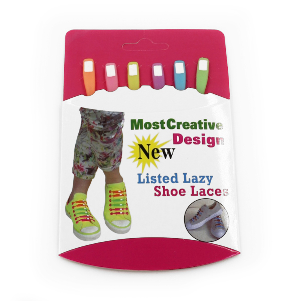 Image of   Lazy Shoe Laces Pastel 12 stk