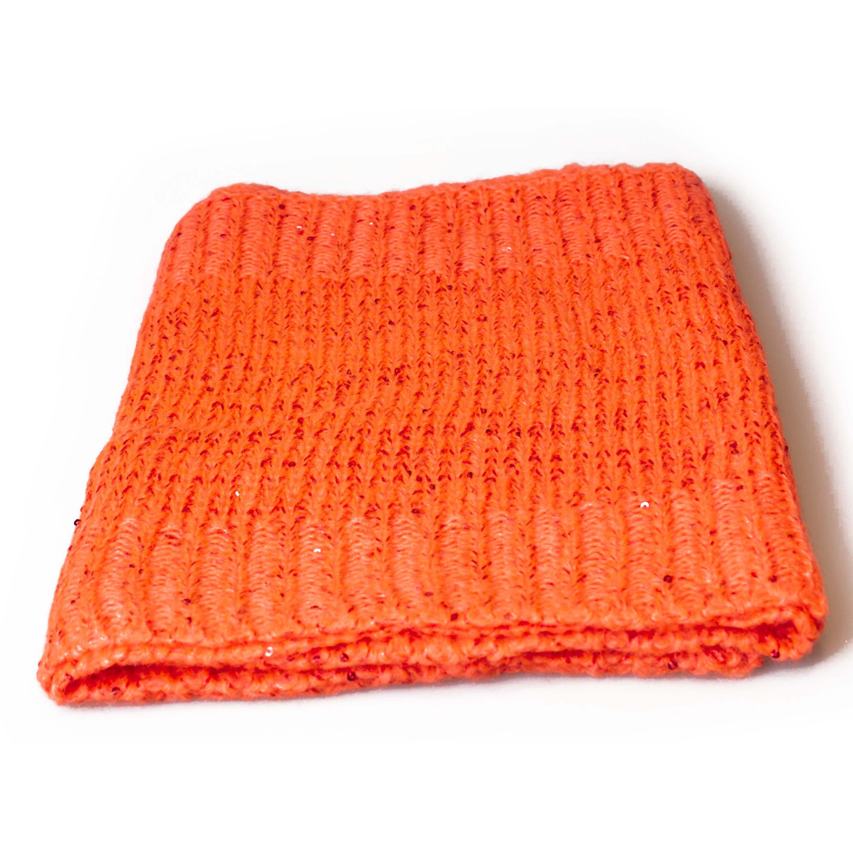 Passero strik tørklæde med paletter Orange