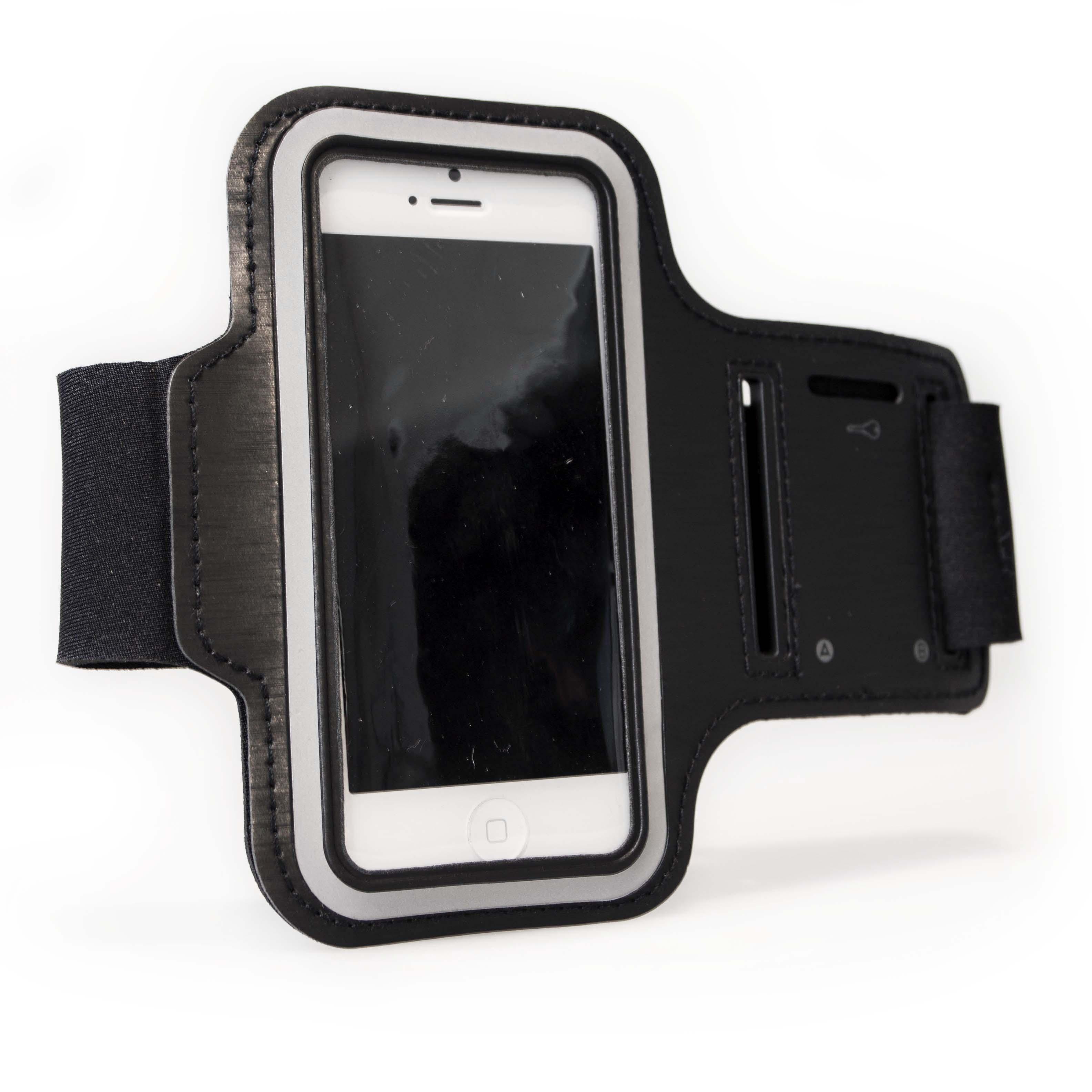 Image of   Easy Fit Armbånd til iPhone og Samsung i sort iPhone 5/iPhone 6/iPhone 7/iPhone 8