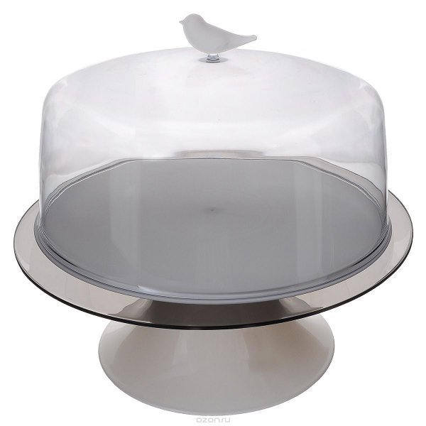 Qualy design Sparrow Cake Tray, hvid
