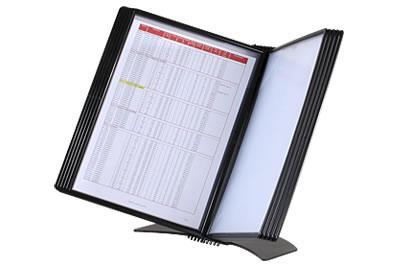 Image of   Registersystem A4 Easym. t/20 lommer sort bordmodel