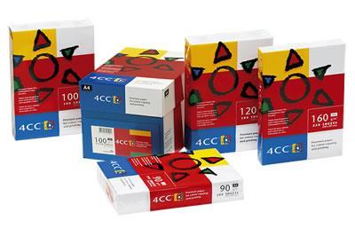 Image of 4CC Kopipapir A4 120 g t/farve -kopi/InkJet/laser pk/500 ark