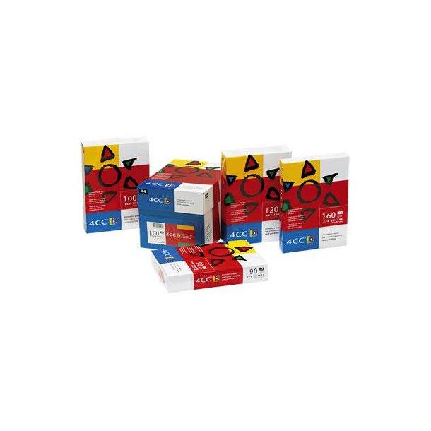 Kopieringspapper 4CC A4 100 g  bläckstråleskrivare/digitaltryck/färglaserskrivare 500/fp
