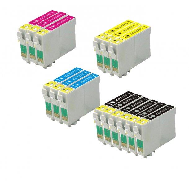 Epson T0441 / T0442 / T0443 / T0444 combo pack 15 stk blækpatron BK/C/M/Y 273 ml