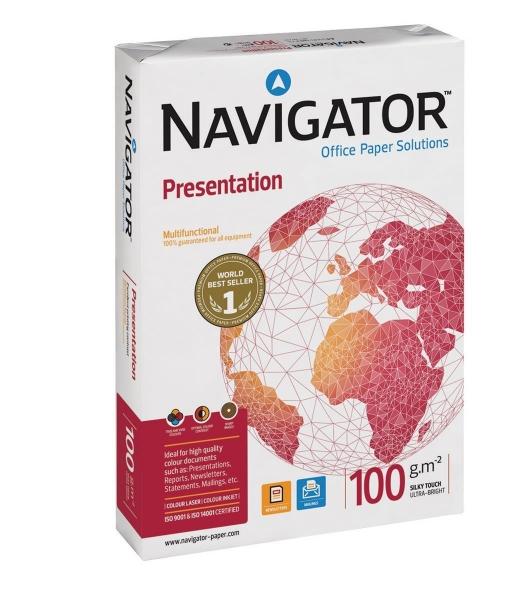 Navigator Presentation, Dobbeltsidet brug, A4 100 g 500 ark