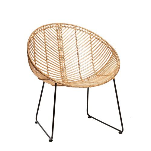 Image of   Lounge stol Hübsch (Natur)