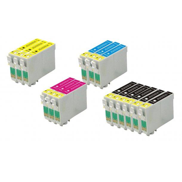 Epson T0551/T0552/T0553/T0554 combo pack 15 stk blækpatron BK/C/M/Y 273 ml