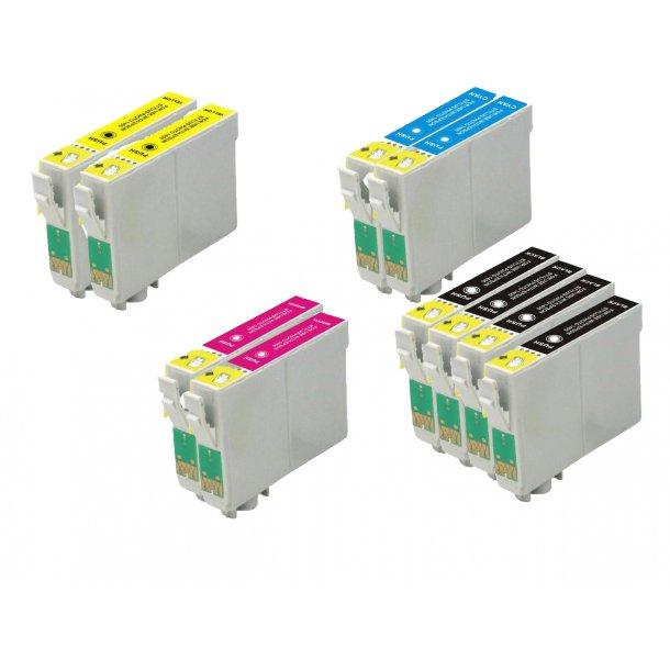 Epson T0551/T0552/T0553/T0554 combo pack 10 stk blækpatron BK/C/M/Y 182 ml