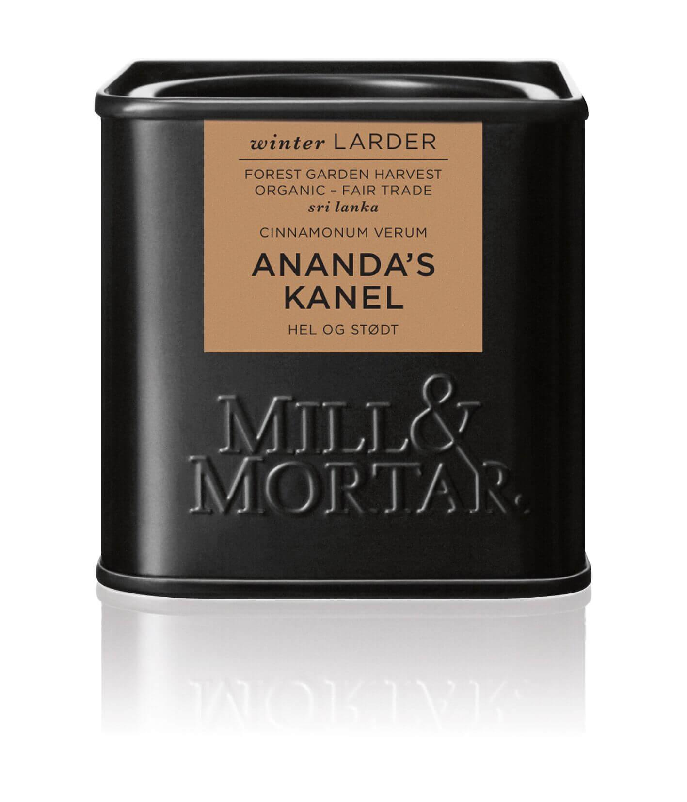 Mill & Mortar Anandas kanel hel & stødt ØKO 45 g