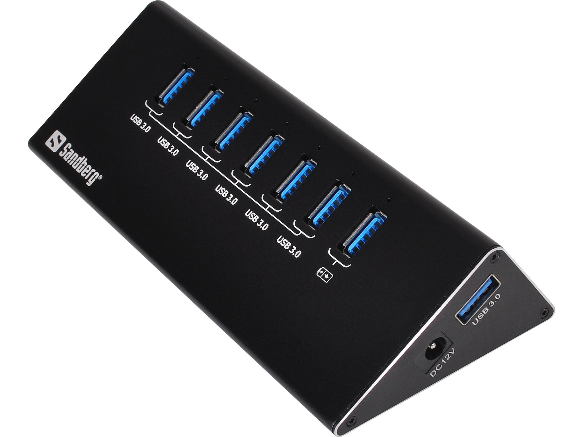 Image of   Sandberg USB 3.0 Hub 6+1 ports