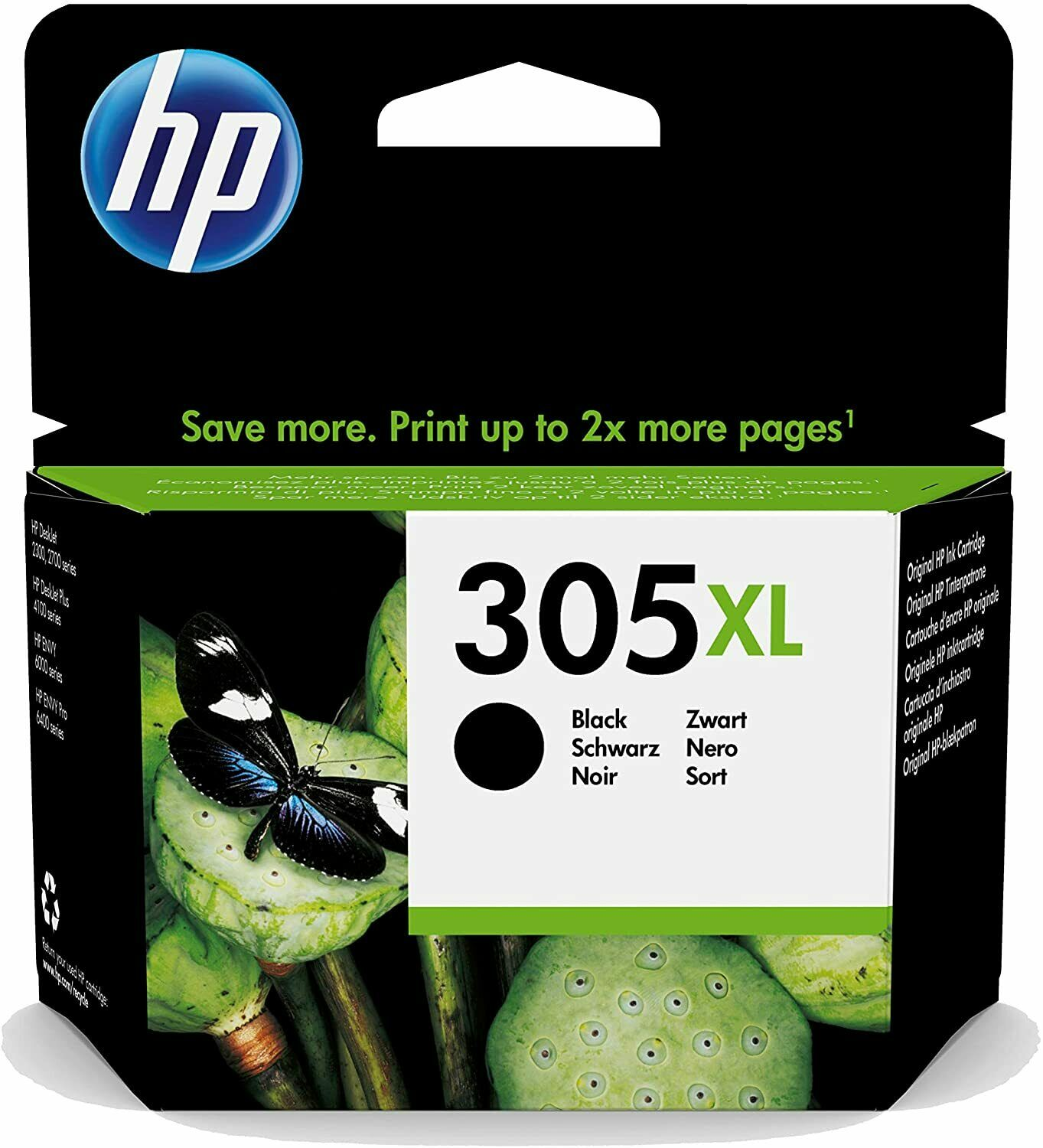 HP 305 XL BK Original bläckpatron (4 ml)