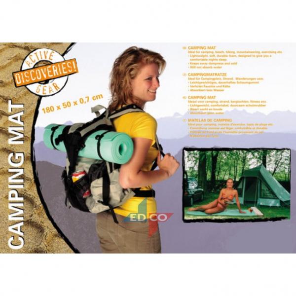 Image of   Camping måtte, underlag, 180 x 50 x 0.6cm, 2 farver Blå