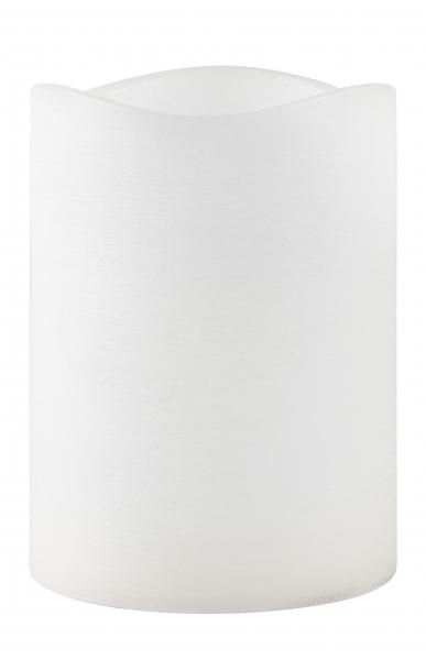 Image of   Villa Collection LED bloklys m. timer. Paraffin/PP Hvid. D 15,0cm H 20,0cm