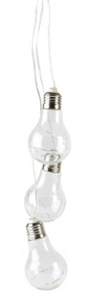 Image of   Villa Collection Light bulb, LED lyskæde m. 3 pærer. Timer funktion