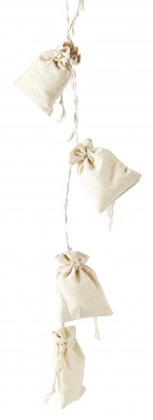 Image of   Villa Collection Cosy bag LED Lyskæde, sand